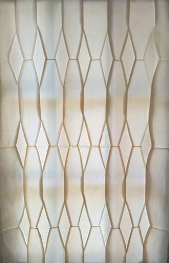 Window Treatment - Harper's Star (Diamond Weave) pleat , pleat designer -  Patricia C. Coleman
