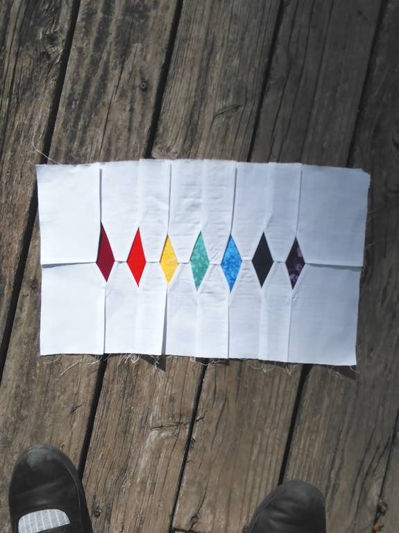 Harper's Star Scale with color elements - designer Patricia C. Coleman - whole cloth
