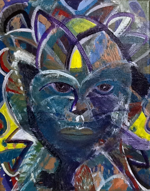 Cat Crow Self Portrait - Patricia C. Coleman
