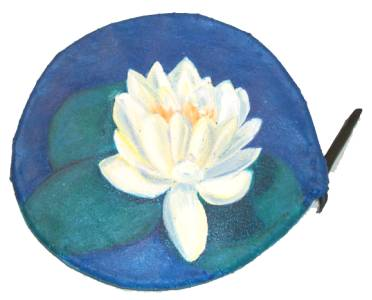 Lotus on bent wood, Patricia C. Coleman, acrylic